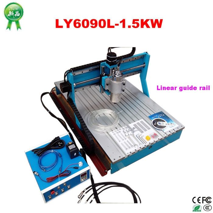 (2510.85$)  Buy here - http://airl3.worlditems.win/all/product.php?id=32771364927 - Woodworking Machinery 6090 CNC Wood Carving Machine with linear guide rail , no tax to Russia