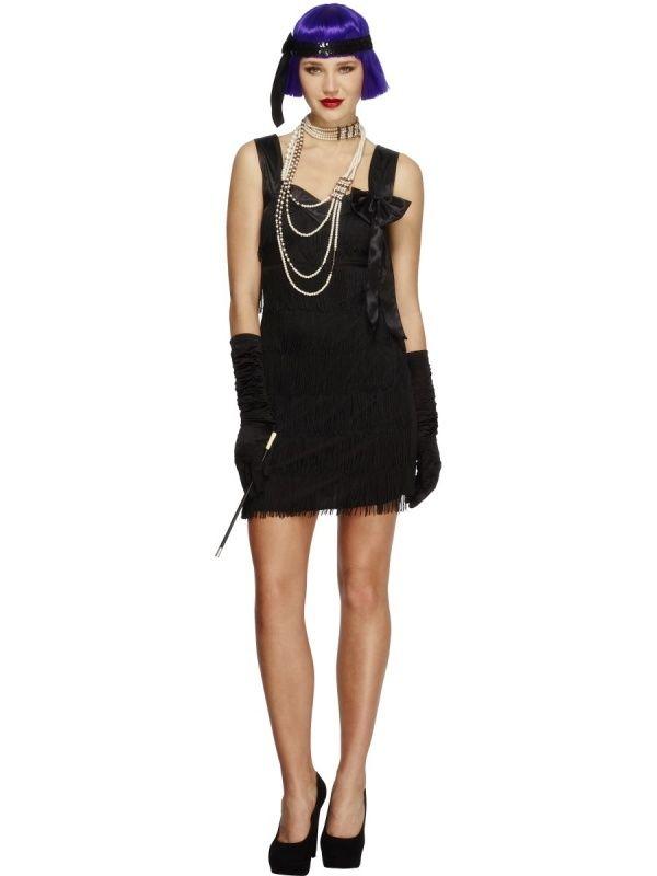 Strój karnawałowy dla kobiety Flapper Foxy w kolorze czarnym.