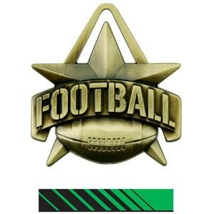 "(BOYS WEEKLY AWARD) Hasty Awards 2"" All-Star Football Medals M-790F"