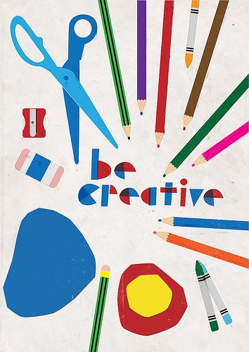 Be Creative Poster Art Print by Anthony Peters