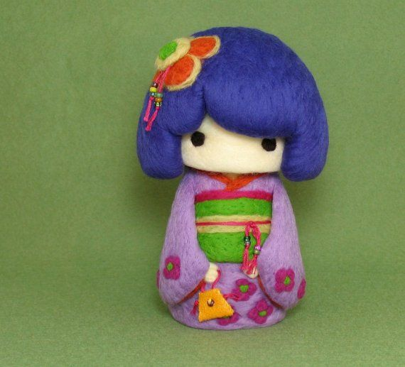 kokeshi doll felt
