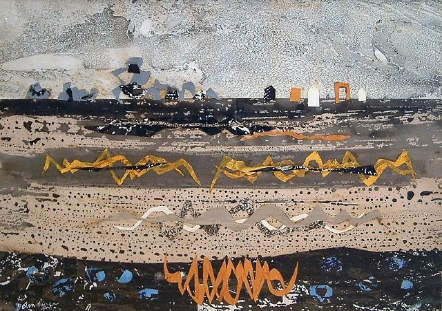 """""""Poelfoen"""" by John Piper (watercolour and collage)"""
