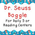 "Use this ""Dr. Seuss Boggle"" word work game in your Dr. Seuss themed classroom! Scramble letters and velcro them to the wall in a 4x4 array. During ..."
