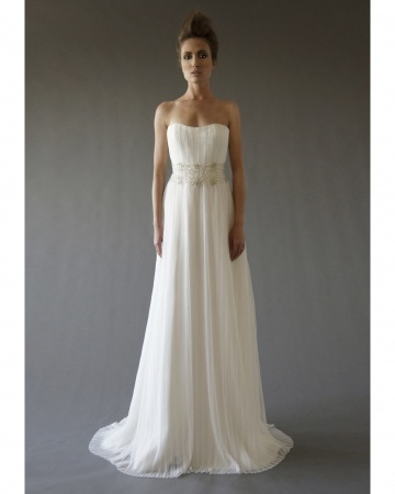 Comprehensive list of Spring 2013 Bridal collection (indexed) via Martha Stewart Weddings...dress shown is by Cocoe Voci.