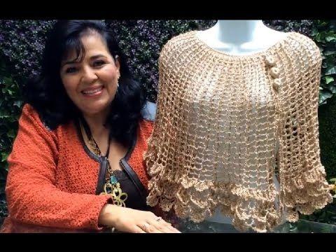 Capita Ana Cristina tejida con gancho fácil y elegante - tejiendo con Laura Cepeda - YouTube