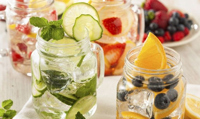 Throw cucumber, cherries, mint, or whatever floats your boat into a pitcher of ice water to soak.  Kicking the Soda Habit? 9 Healthy Replacements