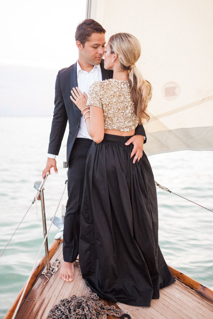 Photography: Hunter Ryan Photo - www.hunterryanphoto.com   Read More on SMP: http://www.stylemepretty.com/2015/08/25/glamour-sailing-engagement-in-miami/