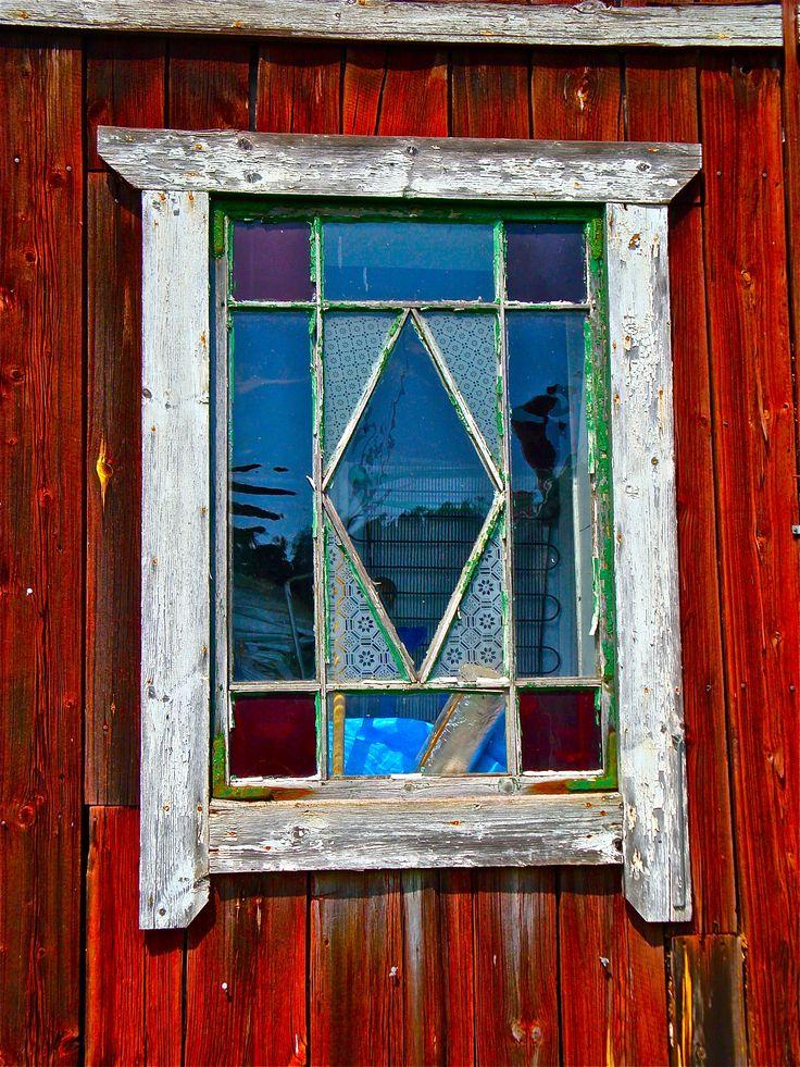 My Great Grandmother's window in Torshalla, Sweden.