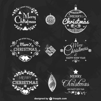 Schwarze und weiße Weihnachten Abzeichen packen