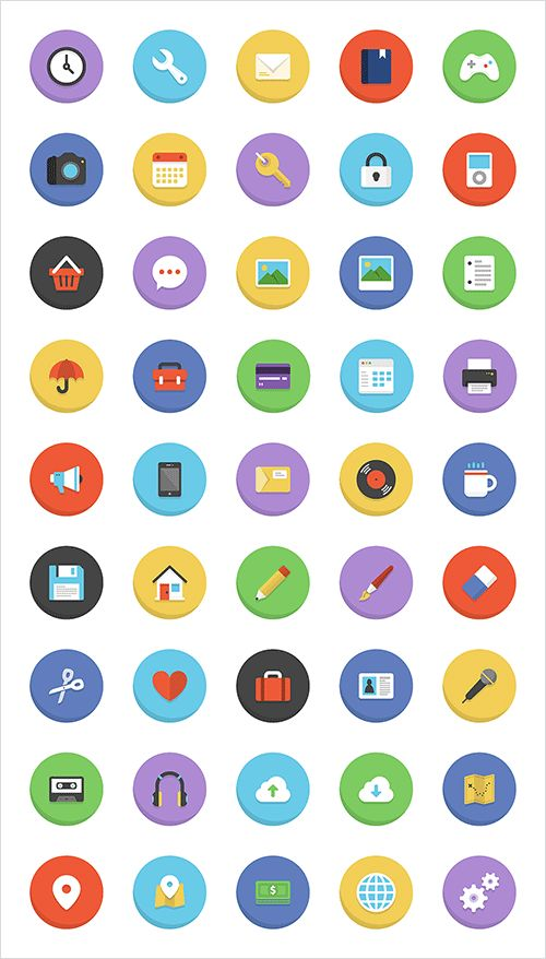 BOLDONS ICON SET (45 ICONS, PNG, AI) - Download all for free - Getfreeresources.com