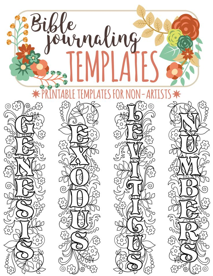 NAMES Of 66 BIBLE BOOKS Bible Journaling Printable Template Bundle