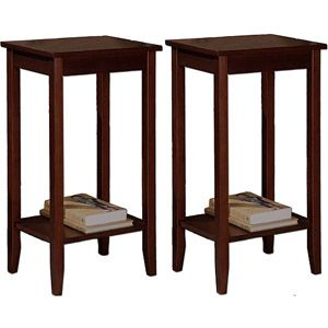 Rosewood Coffee Brown Tall End Tables - Value Bundle
