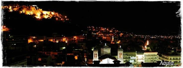 Lamia city by night