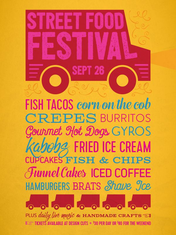 Street Food Poster (tutorial from designcuts)