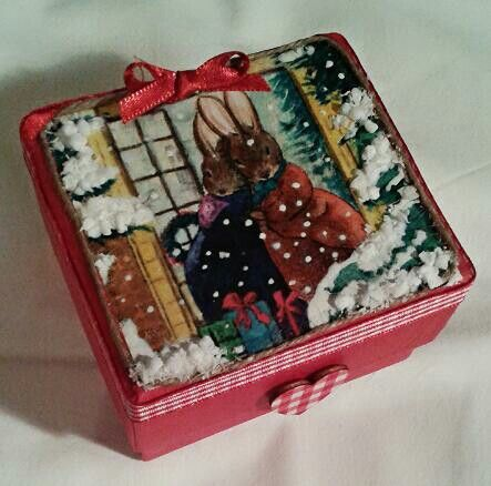 Christmas gift box #homemade #christmas