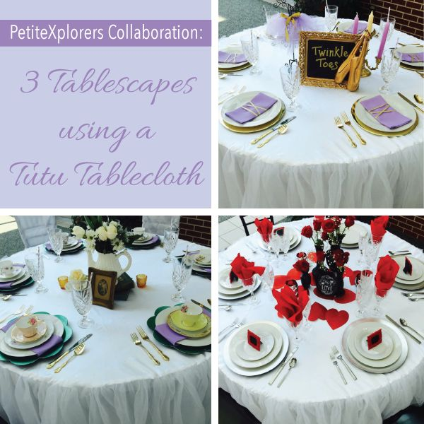3 Tablescapes using a Tutu Tablecloth | LinenTablecloth Blog