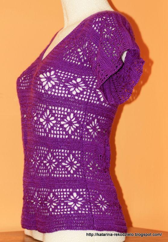 Bluzka koronkowa  # crochet blouse