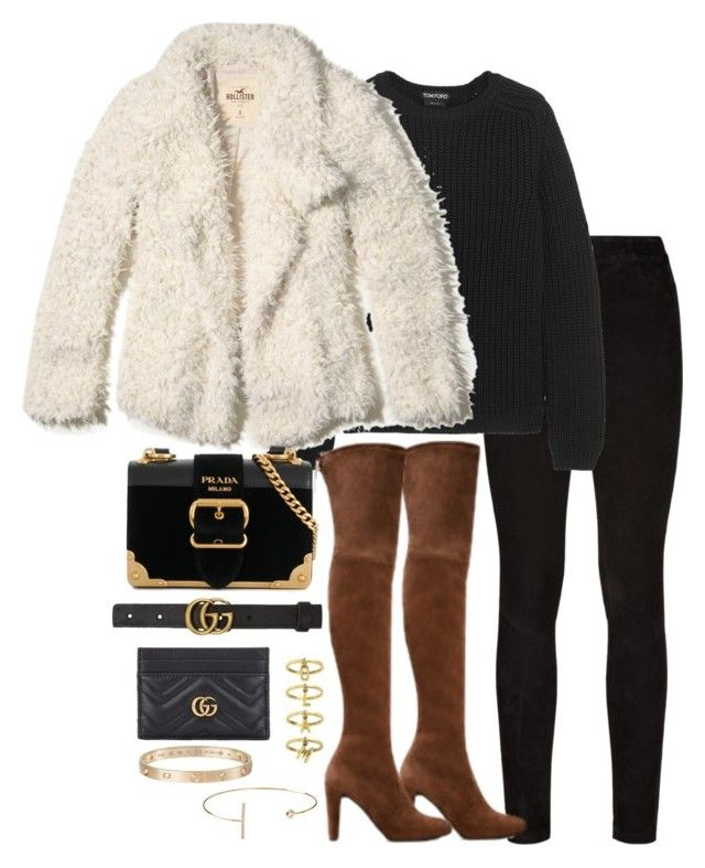 """Untitled #4877"" by theeuropeancloset ❤ liked on Polyvore featuring Paige Denim, Tom Ford, Hollister Co., Stuart Weitzman, Prada, Gucci, Steve Madden, Jeweliq and Cartier"