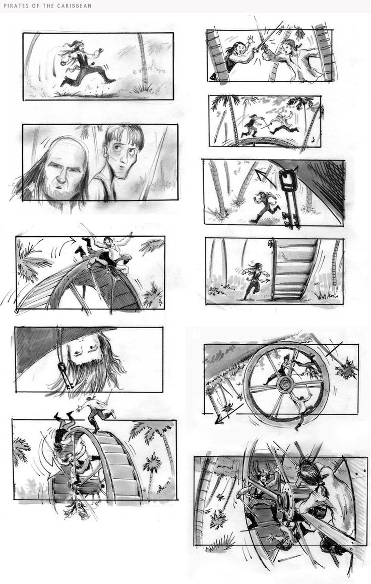 Storyboards by Jim Byrkit. Storyboards Inc. Disney