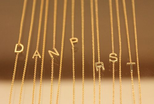 Maya Brenner Asymmetrical Letter Necklace | Steven Alan