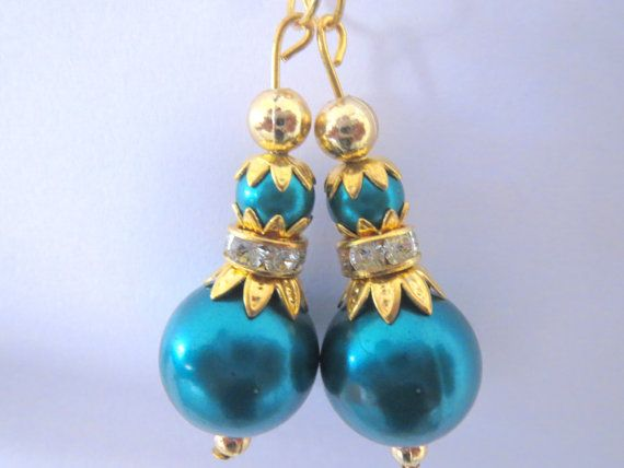 Royal Blue and Golden Glass Bead Traditional by CraftyJaipur