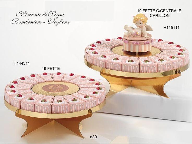 Mercante di Sogni - Voghera - Bomboniere e Stampati dal 1969 - Vendita ai privati: Collezioni Classic: torta fette porcellana