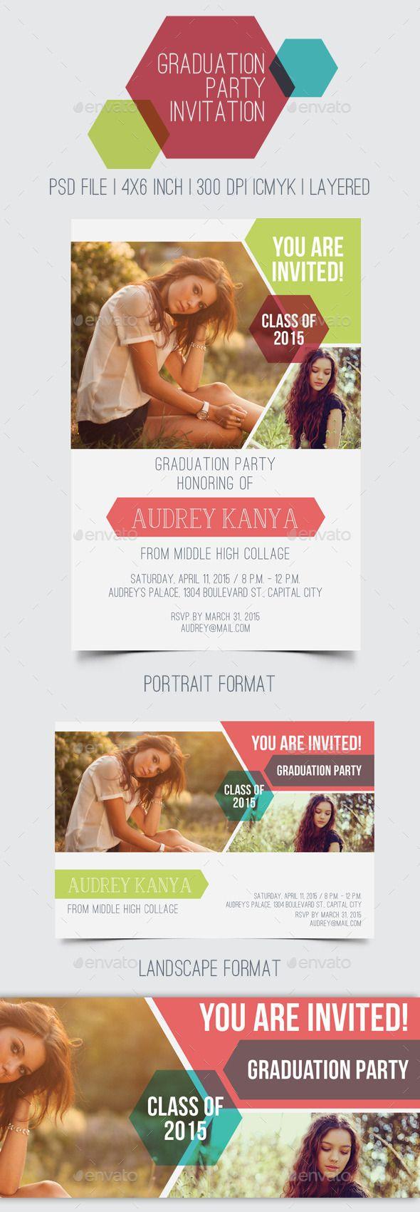 Graduation Party Invitation Template PSD 20 best
