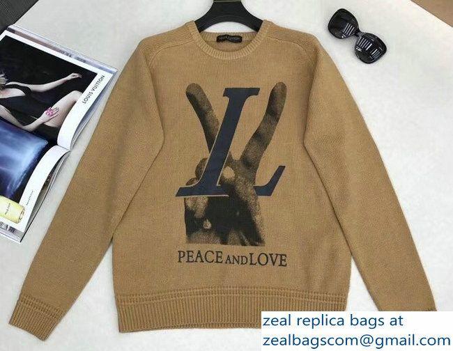 928909400c3d Louis Vuitton LV Peace and Love Crewneck Sweater 2018