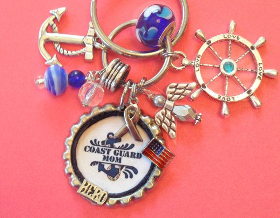 Coast Guard Mom Keycharm by BottlecapBiz on Etsy