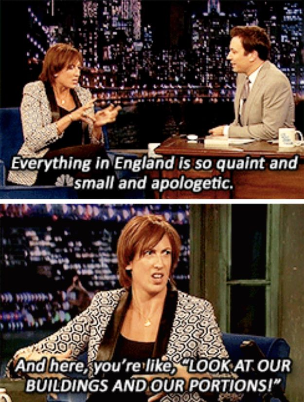 Everything in America is massive and pointless. | 18 Times Miranda Hart Spoke The Absolute Truth