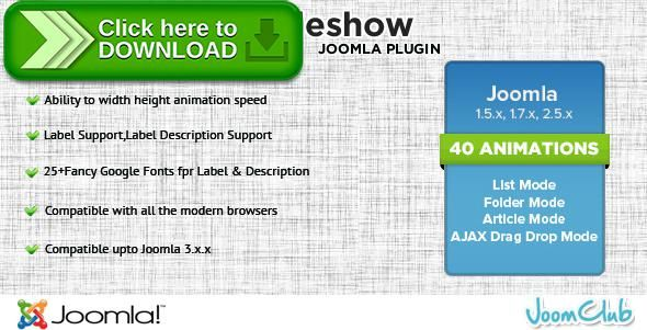 [ThemeForest]Free nulled download Mega Slideshow - Premium Image Slider for Joomla from http://zippyfile.download/f.php?id=48683 Tags: ecommerce, image slider, Image Slider Joomla, image slideshow, Image Slideshow Joomla, Joomla Image Slider, Joomla Image Slideshow, joomla slider, joomla slideshow