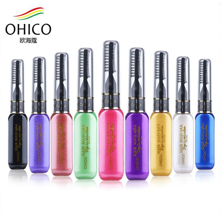 Fashion OHICO Hair Dye Pen Color DIY Not Hurt Hair Easy To Clean Instant One-time Temporary Mascara Hair Cream Styling Colorful
