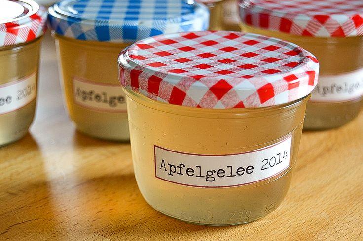 Apfelgelee selber machen. Anne Rehorn für DIY frollein.
