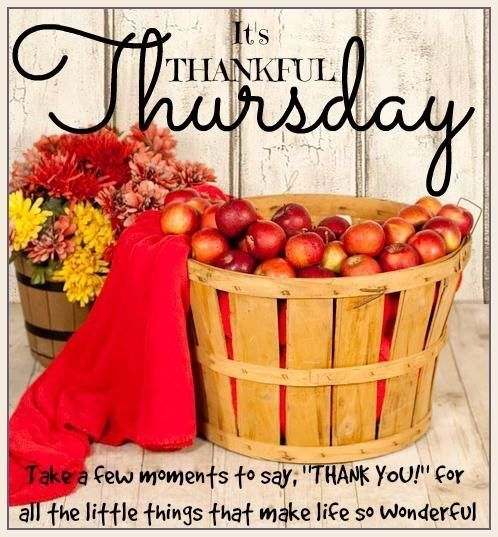 It's Thankful Thursday