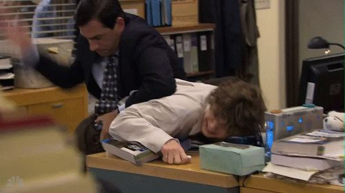 """tatesbasement: """"Remember when Evan Peters was on The Office? """""""