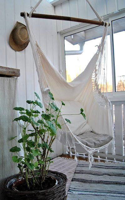 Hammock chair. So want this! Looks comfy!  Home  Pinterest ...