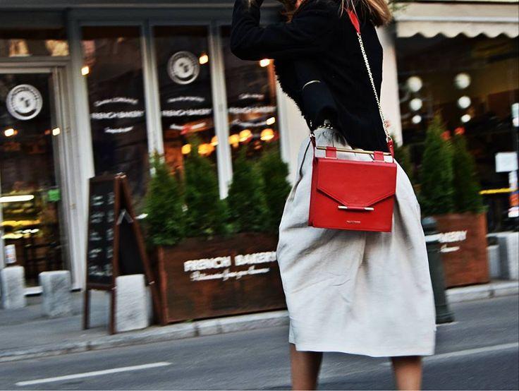 Maestoso Ferrari Red leather bag.