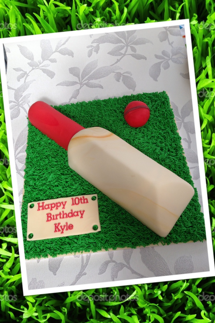 Cricket Bat Cake Images : Cricket bat themed birthday cake Food Pinterest ...