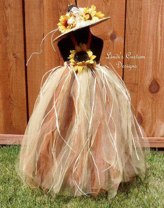 Autumn Sunflower Scarecrow Tulle Tutu Dress for by sweethearttutus, $85.00