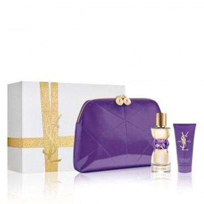 Coffret #Manifesto Eau de parfum    #parfum #Yvessaintlaurent  Ce Coffret est composé de : vaporisateur 50ml+ lait Corps 50ml+ gel Douche 50ml