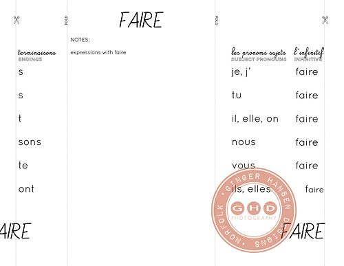 17 best ideas about Verbe Faire on Pinterest | French verbs ...