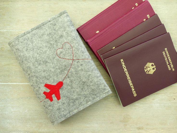 Familien-Reisepass-Hülle+aus+Wollfilz+von+susannes-kreative-seite+auf+DaWanda.com