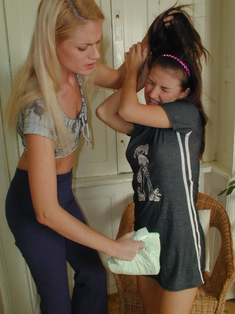 Babysitter spanked and punished