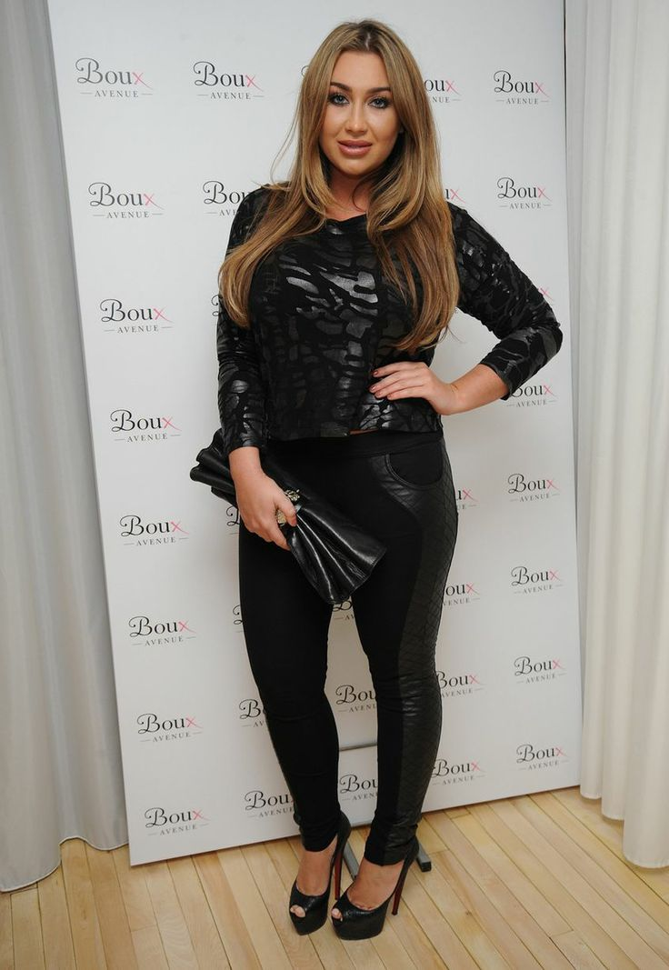 Lauren Goodger 'Catwoman': Star flaunts curves in black leather outfit and joins stars at Boux Avenue launch party
