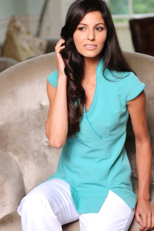 18 best beauty uniform offers images on pinterest spa for Spa uniform blue
