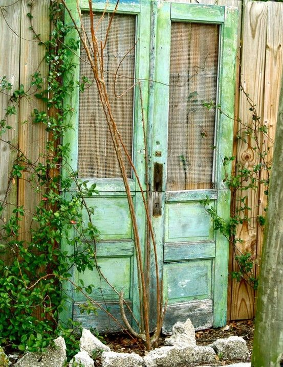 Green Cottage Doors by susangir