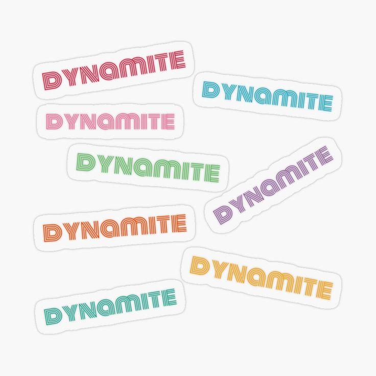 'BTS Dynamite, spotify code stickers pack' Transparent Sticker by NoonaStudio in 2020   Bts ...