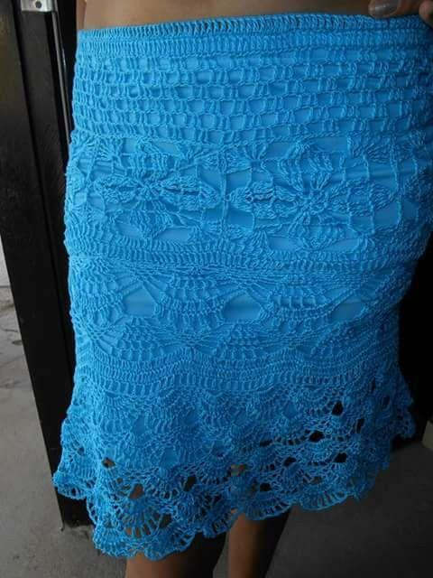 Beautiful cotton slim fit skirt