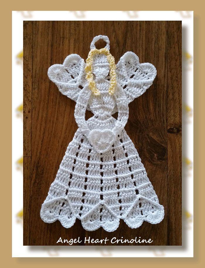 Mejores 213 im genes de crochet angels en pinterest - Adornos navidenos ganchillo patrones ...