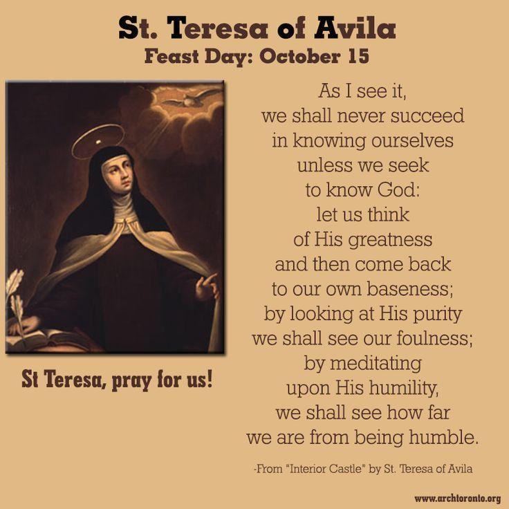 Image Result For St. Teresa Of Avila Quotes